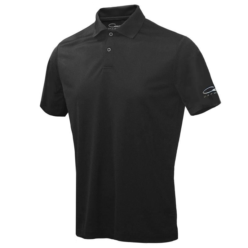 メンズCARO半袖ポロシャツ、ブラック
