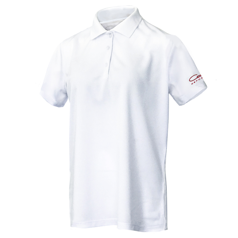 レディース CARO半袖ポロシャツ、ホワイト