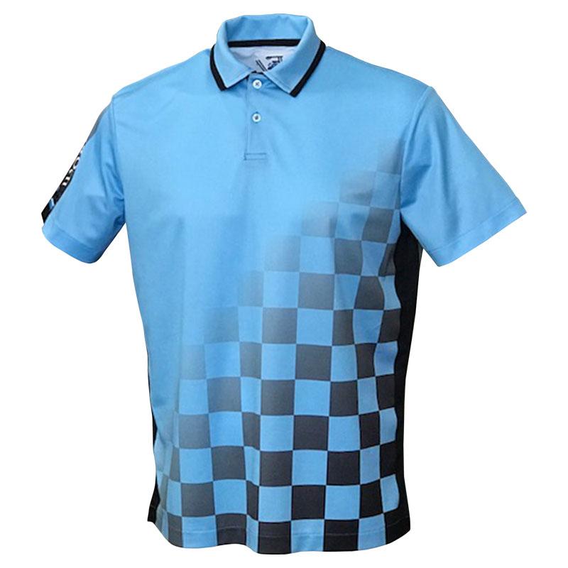 メンズEVER ONEWORLD半袖ポロシャツ チェッカーボード