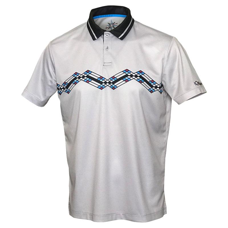 メンズEVER ONEWORLD半袖ポロシャツ ジグザグ